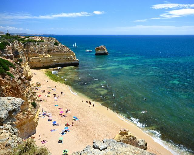 Playa de Marinha, en el Algarve portugués