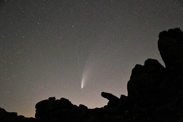 Comet NEOWISE over Hound Tor #3
