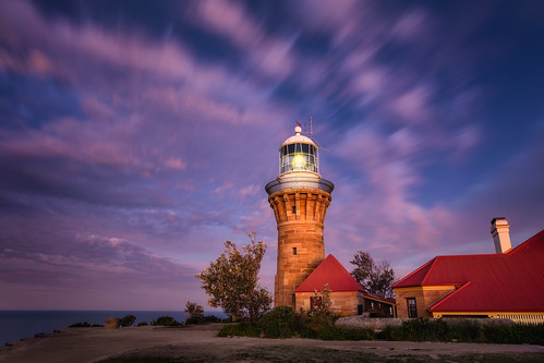 barrenjoeylighthouse landscape light lighthouse sea sunset pink clouds nsw sydney australia oz newsouthwales