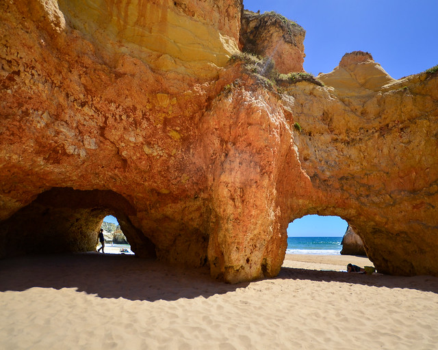 Playa de los 3 hermanos en el Algarve