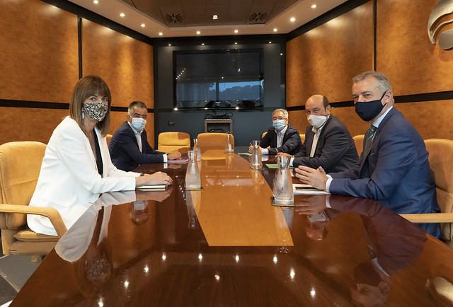 2020.07.20 Idoia Mendia y Miguel Ángel Morales se reúnen con el PNV