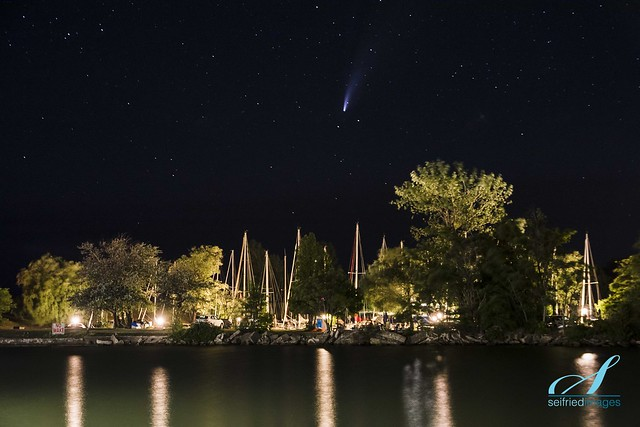 Neowise Comet over Harbour Lights Marina