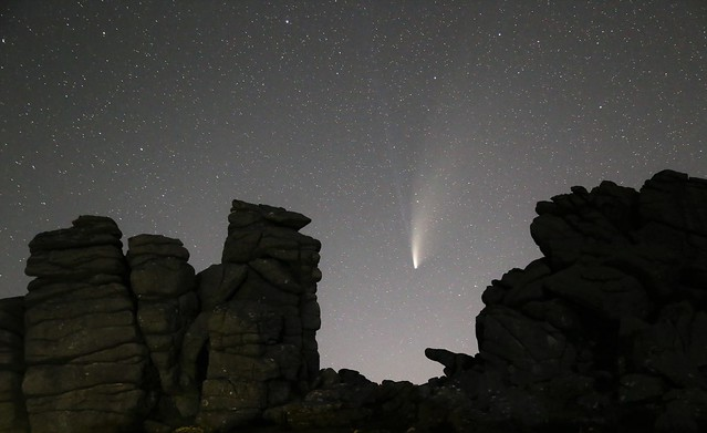 Comet NEOWISE over Hound Tor #2