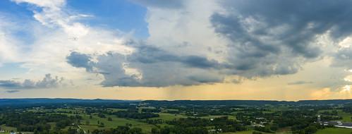 dji mavic pro2 aerial whitecounty tennessee tn sunset clouds uppercumberland