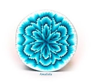 Murrina flor turquesa