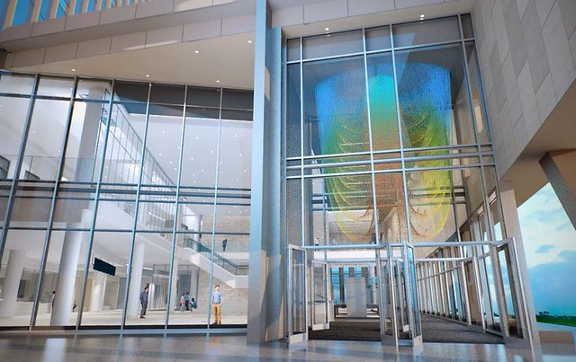Public art installation at new Johnson County Courthouse