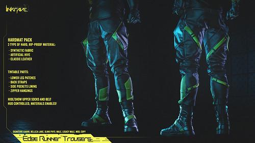 LINKRAVE // Edge Runner Trousers >> Released!! @ Mainframe Event