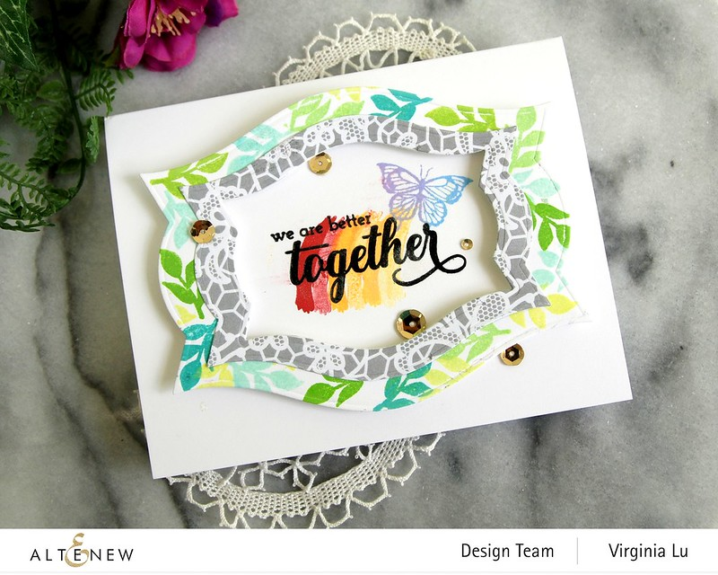 Altenew-We Stand with you-Nesting Labels Die#3