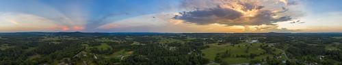 dji mavic pro2 aerial whitecounty tennessee tn sunset clouds crepuscularrays anticrepuscularrays uppercumberland
