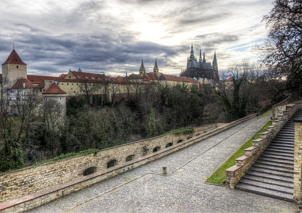 Stairs Beyond Prague Castle