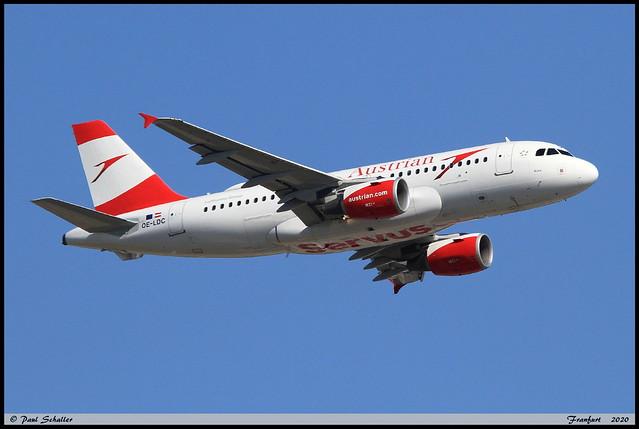 AIRBUS A319 112 Austrian OE-LDC 2262 Frankfurt juin 2020