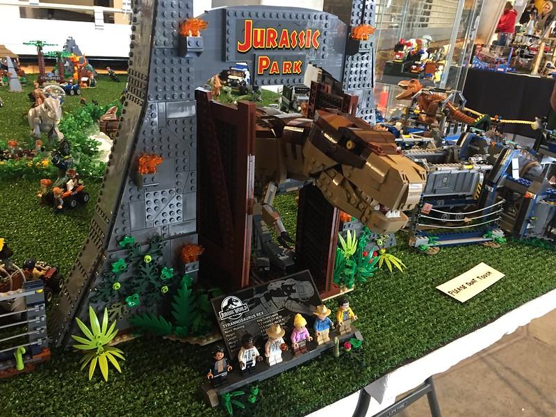 Jurassic Park Lego display, Armageddon Expo