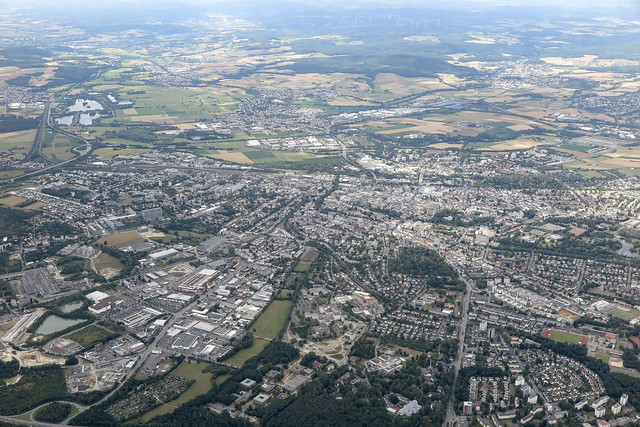 Luftbild beim Segelflug am 11.07.2020