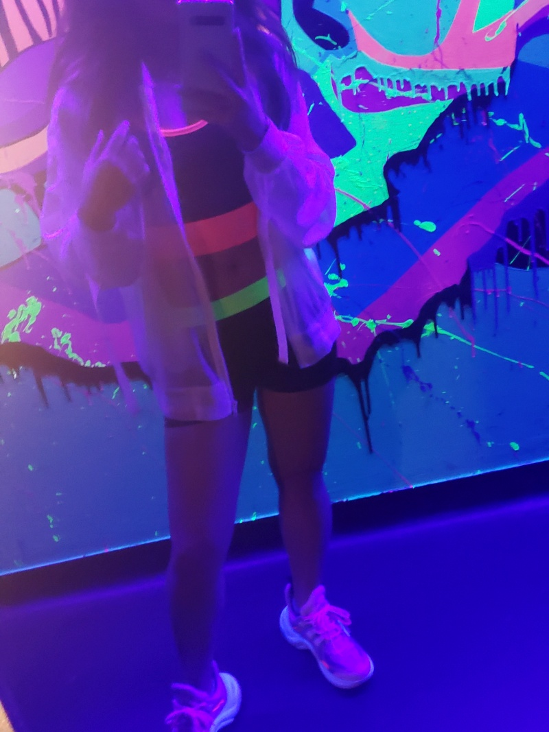 leftbanked neon outfit