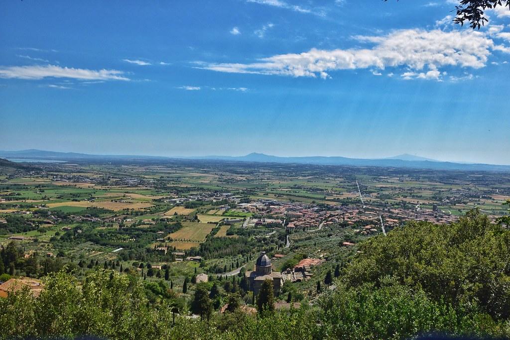 Panorama #cortona #toscana #valdichiana