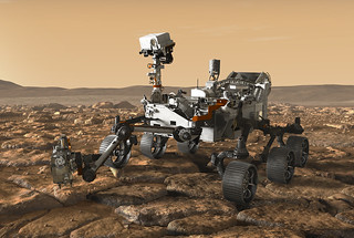 An artist's concept depicts NASA's Mars rover exploring the red planet. It is set for launch this summer.