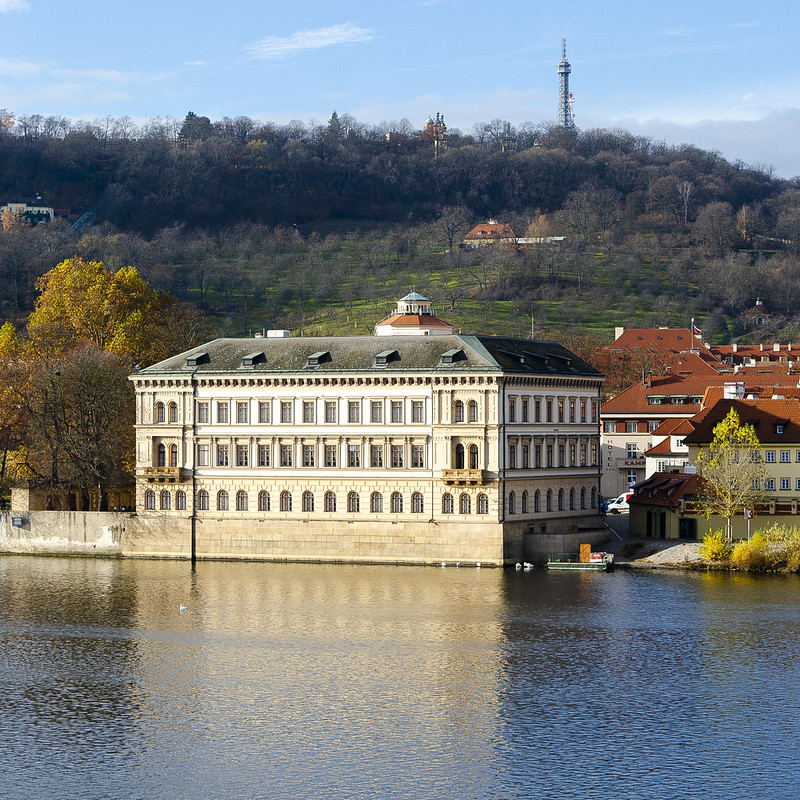 Square Building on Vltava