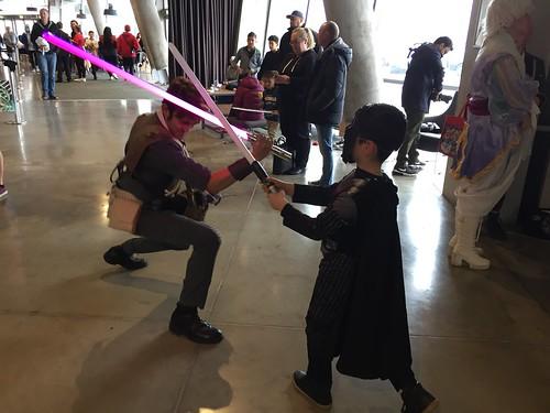 Lightsaber duel, Armageddon Expo