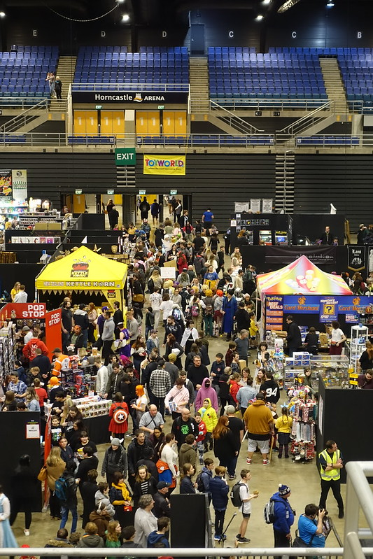 View of stands and crowd, Armageddon Expo