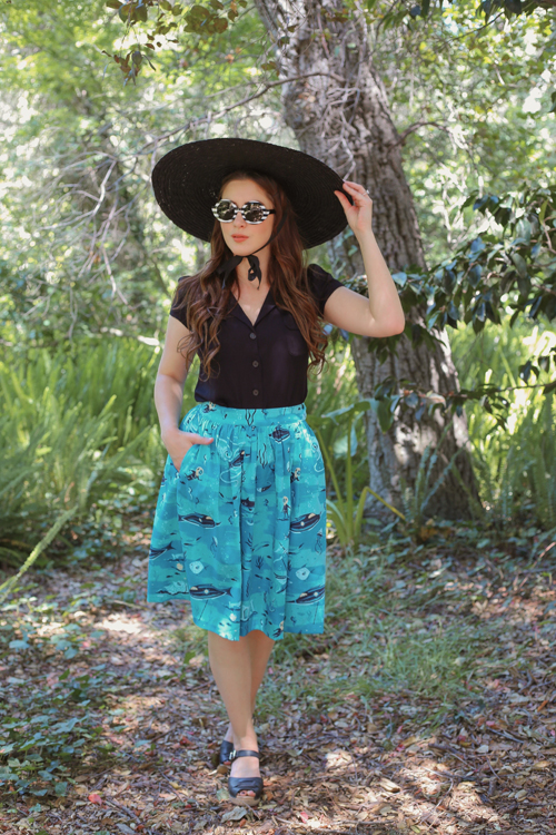 Kitschy Witch Designs by Stephanie Buscema Twenty Thousands Leagues Gillian Skirt