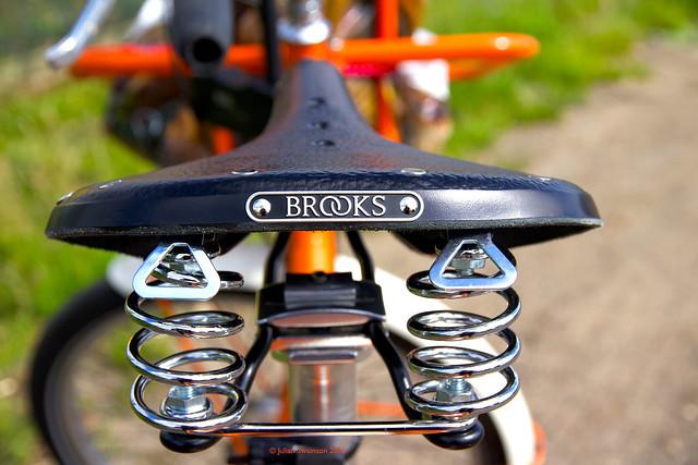 Brooks saddle, first run