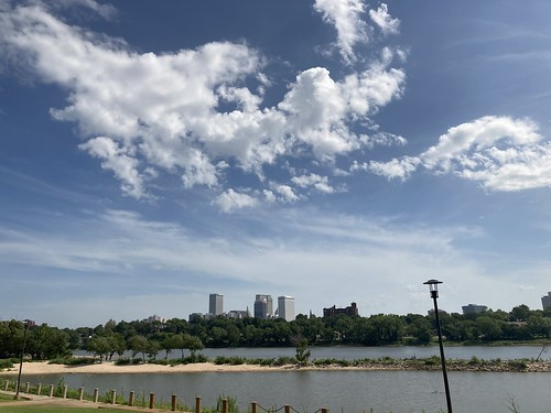 Downtown Tulsa Skies from the Arkansas River
