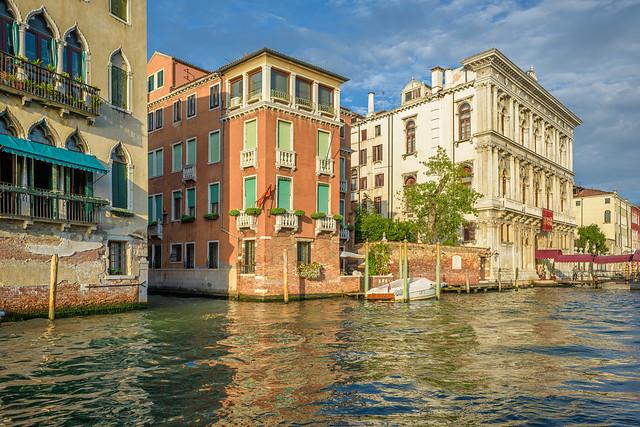 Renaissance palaces lining Grand Canal, Venice