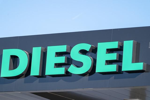 Generic Diesel gas sign