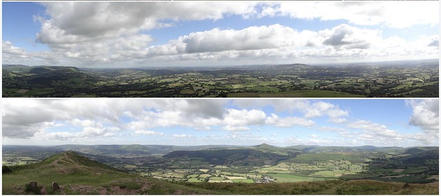 Skirrid Views - Panoramas (N&E, S&W) from the Trig Point