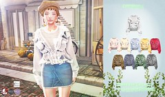 amiable}Oversized Cotton Frilled Lace Blouse@Shiny Shabby(50%OFF SALE &Give Away).
