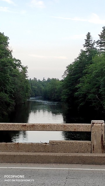 Beautiful Saco River, just before sunset