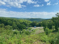View of Meadows Mountains from Frostburg trailhead parking