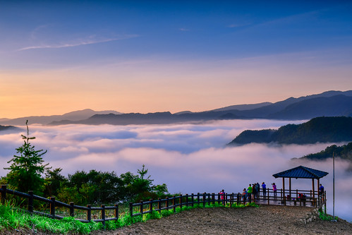 taiwan newtaipei pinglin teagarden sunrise cloudspace dawn sky cloud outdoors 台灣 新北市 坪林區 南山寺 仙公廟 雲海 晨曦 日出 茶園