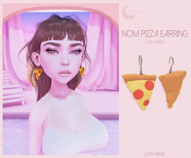 Gift\\ Nom Pizza Earring //Gift