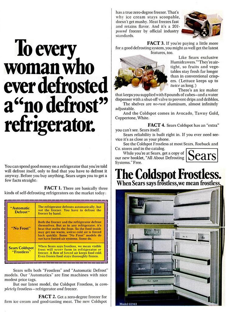Sears, Coldspot 1972