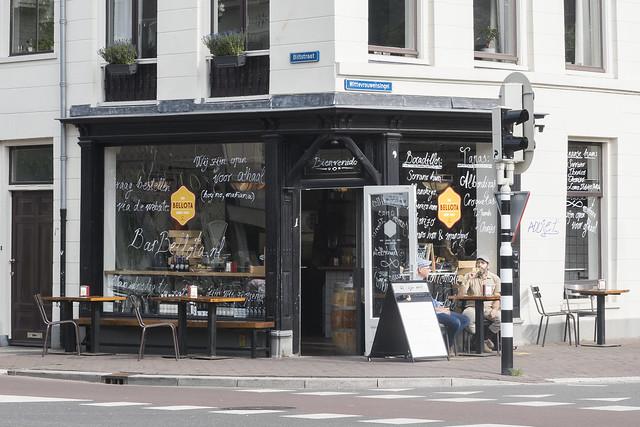 A street corner cafe
