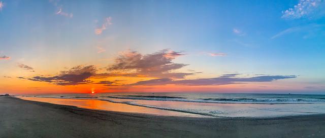 Sea Isle City Sunrise Pano