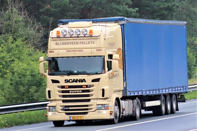 Scania R420, Blijderveen pallets, Holland.