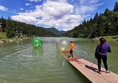 Aquazorbing na vodní nádrži Hrabovo