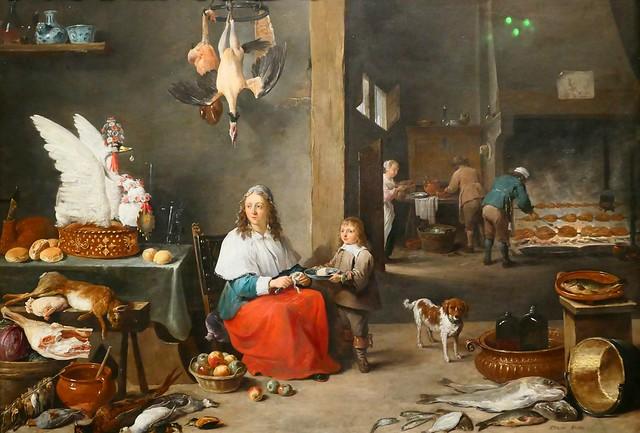 Mauritshuis Museum - Hague - David TENIERS II - 1644 - Kitchen interior