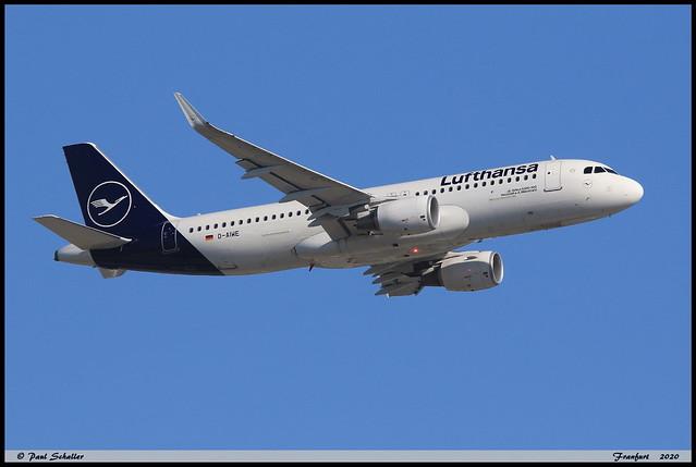 AIRBUS A320 214 Lufthansa D-AIWE 8680 Frankfurt juin 2020