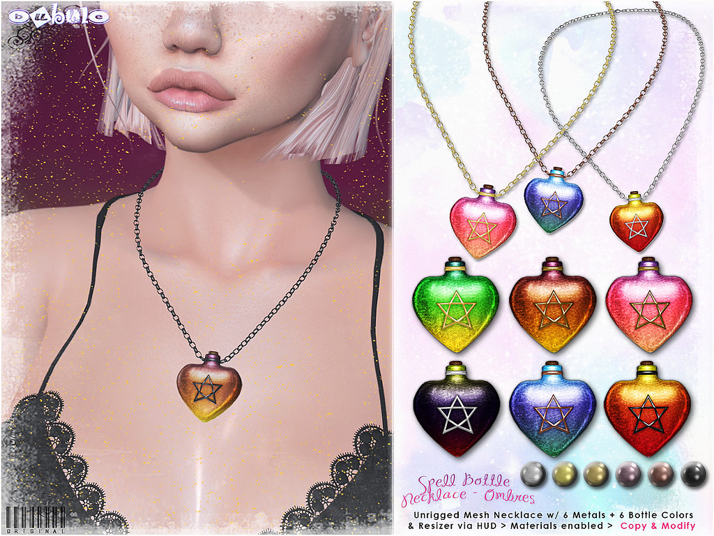 [ bubble ] Spell Bottle Necklace -Ombres