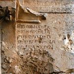 Krak des Chevaliers (Qalaat al-Husn) 1170-1271 Hall of Knights Porch Inscription 2