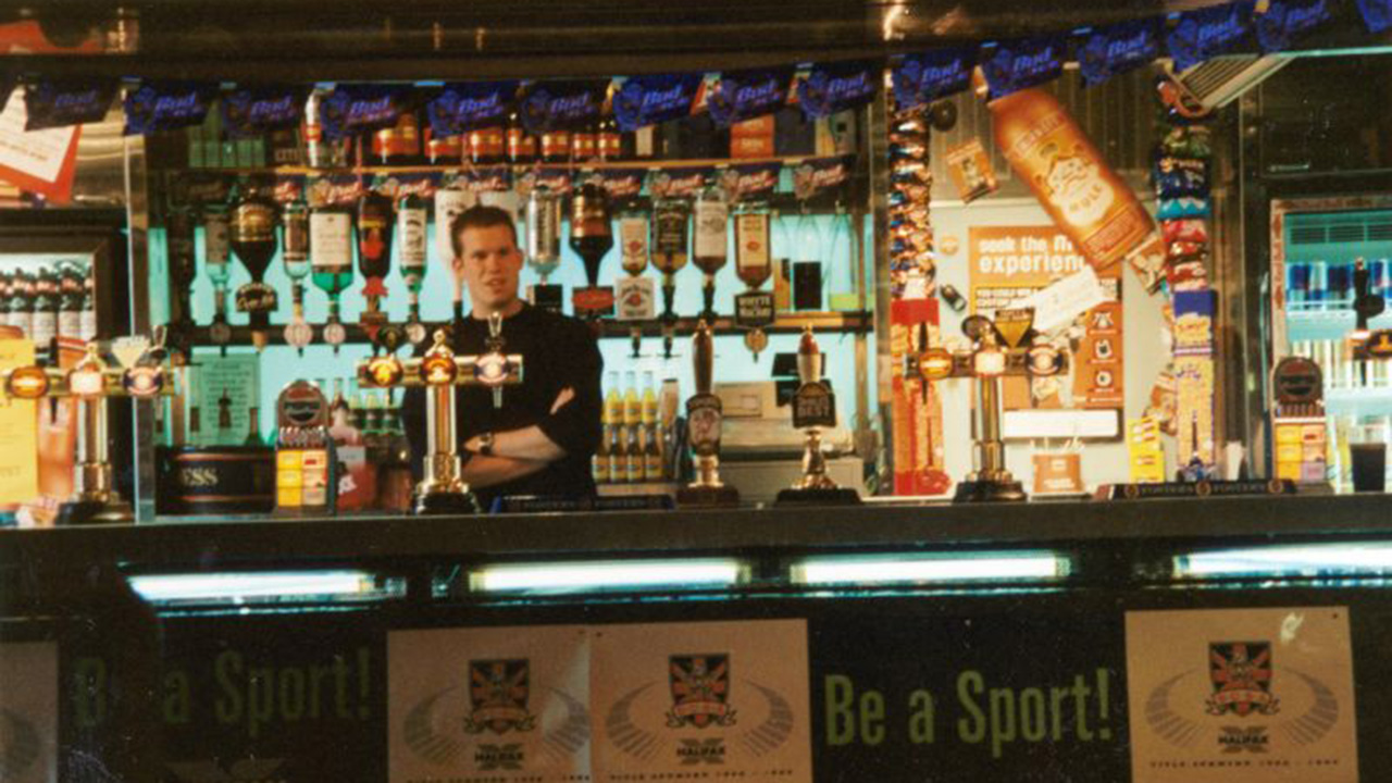 The Students' Union bar in the late 1990s