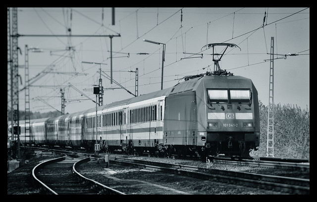 Trainspotting 101 041-2 mit Intercity