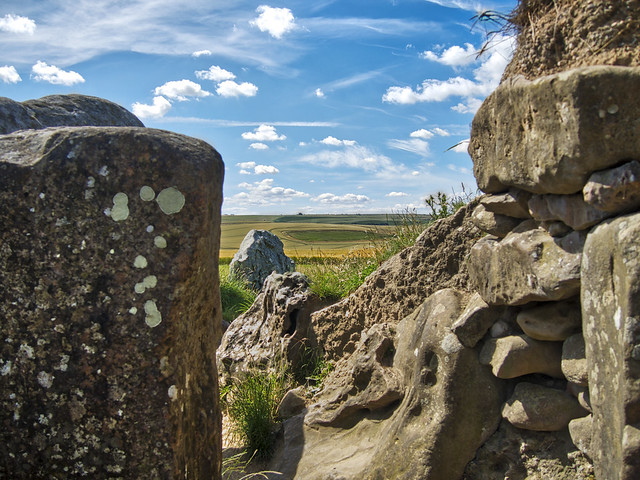 West Kennet Longbarrow - looking out