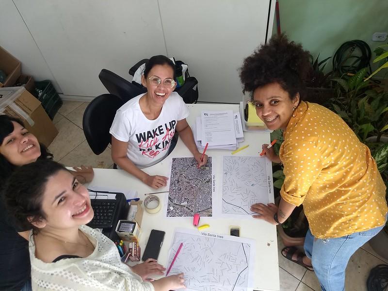 Preparação para inicio das entrevistas na Vila de Santa Inês. 05/02/2020.