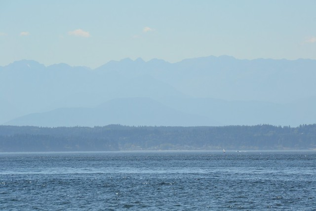 Olympic Mountains and Bainbridge Island