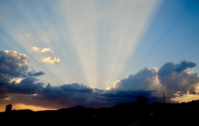 melendiz dağı güneş ışınları