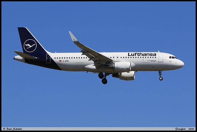 AIRBUS A320 214 Lufthansa D-AIWC 8667 Frankfurt juin 2020